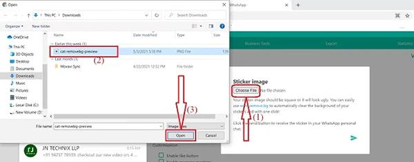 نحوه درست کردن استیکر در واتساپ با کامپیوتر2